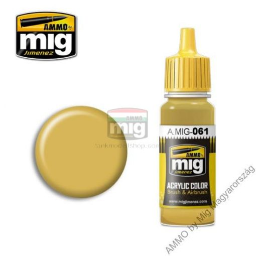 A.MIG-0061 WARM SAND-YELLOW makett festék