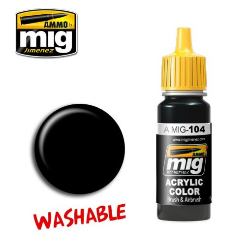 A.MIG-0104 WASHABLE BLACK