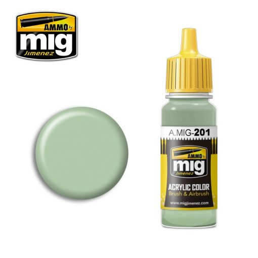A.MIG-0201 FS 34424 LIGHT GRAY GREEN makett festék
