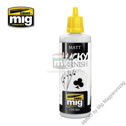 A.MIG-2051 MATT LUCKY VARNISH (60 ml) - Matt lakk