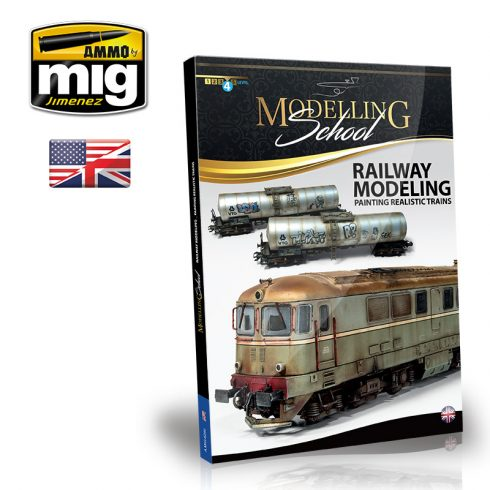 A.MIG-6250 MODELLING SCHOOL - RAILWAY MODELING: PAINTING REALISTIC TRAINS ENGLISH