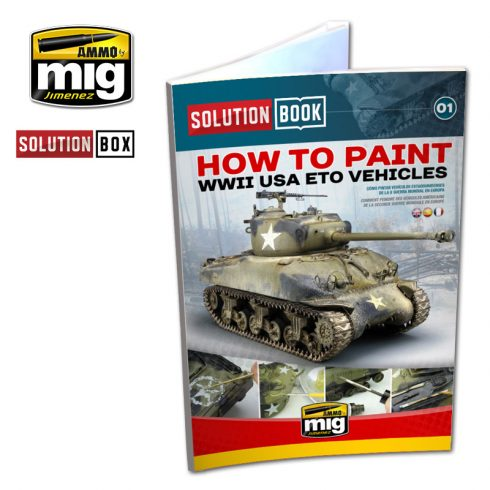 A.MIG-6500 WW II AMERICAN ETO SOLUTION BOOK - MULTILINGUAL BOOK