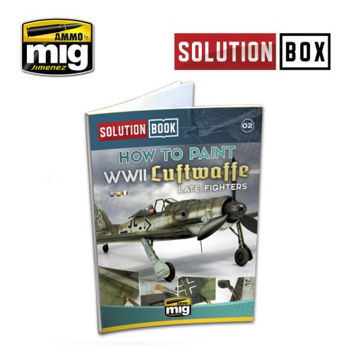 A.MIG-6502 WWII LUFTWAFFE LATE FIGHTERS SOLUTION BOOK - MULTILINGUAL BOOK