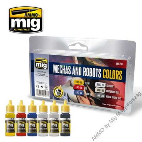 A.MIG-7127 ROBOTS & MECHAS COLORS - makett akril festék szett