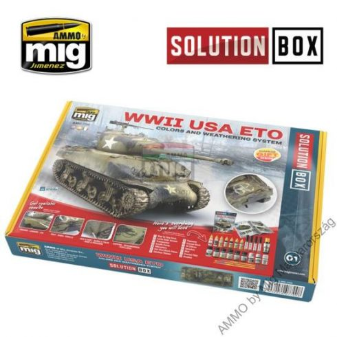 A.MIG-7700 WW II AMERICAN ETO SOLUTION BOX