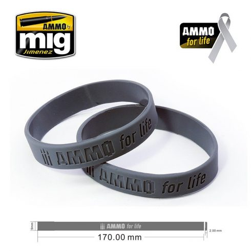 A.MIG-8021S AMMO FOR LIFE: CANCER RESEARCH DONATION BRACELET SMALL