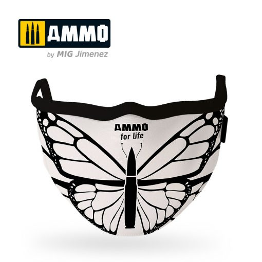 """AMIG8074 AMMO for Life Face Mask """"Butterfly"""" (Hygienic protective mask 100% polyester)"""