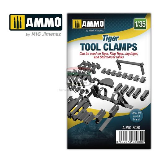 AMIG8080 1/35 Tiger tool clamps