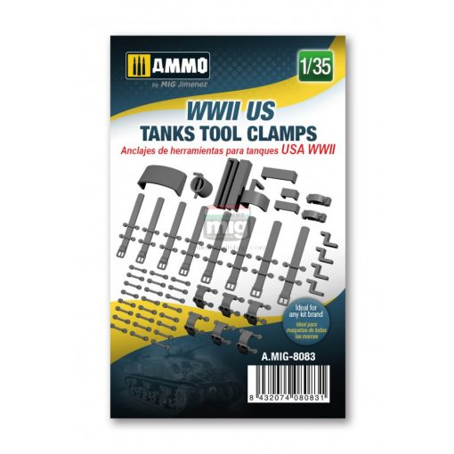 AMIG8083 WWII US tanks tool clamps, scale 1/35