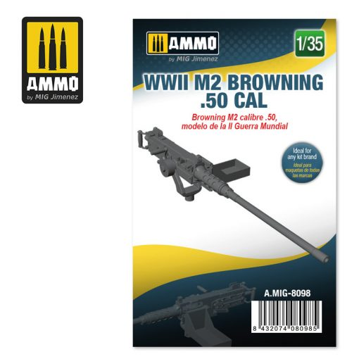AMIG8098 1/35 WWII M2 Browning .50 cal