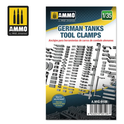 AMIG8106 1/35 German Tanks Tool Clamps