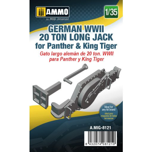 AMIG8121 1/35 German WWII 20 ton Long Jack for Panther & King Tiger