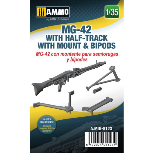 AMIG8123 1/35 MG-42 with Half-Track Mount and Bipods