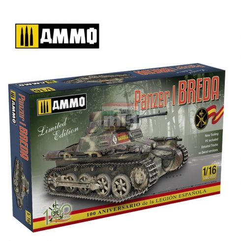 AMIG8503 1/16 Panzer I Ausf. A Breda, Spanish Civil War light tank destroyer conversion