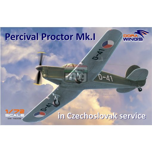 DORAW72003 Percival Proctor Mk.1 marking of Czechoslovakia makett