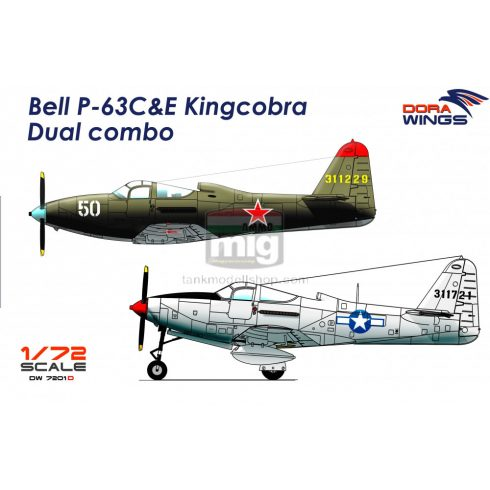 DORAW7201D Bell P-63C&E Kingcobra Dual combo (2 in 1)