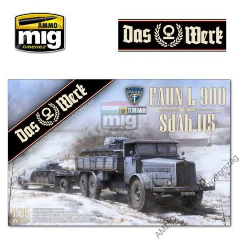 DW35003 1/35 FAUN L 900 plus Sd.Ah.115 10t low bed trailer bundle