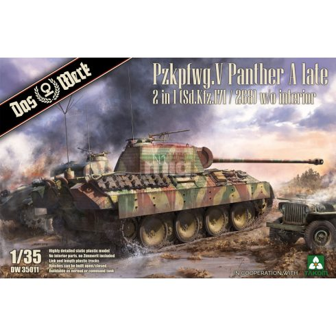 DW35011 Pzkpfwg. V Panther A late 2 in 1 (Sd.Kfz.171/268)
