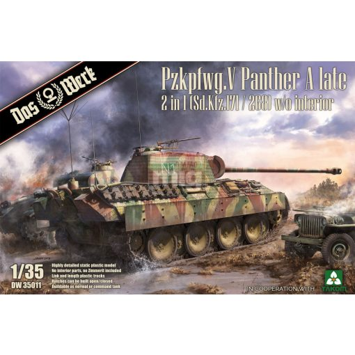 DW35011 Pzkpfwg. V Panther A late 2 in 1 (Sd.Kfz.171/268) makett