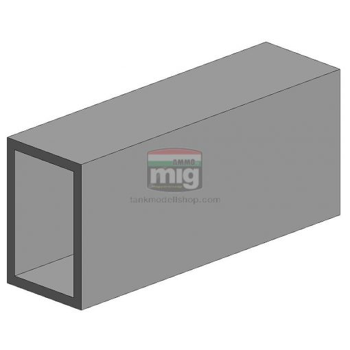 Evergreen 500257 Üreges téglalap-profil, 350x3,2x6,3 mm (1 db)