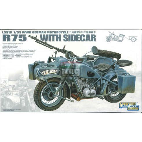 GWH03510 1/35 WWII German BMW R75 with Sidecar/w trailers