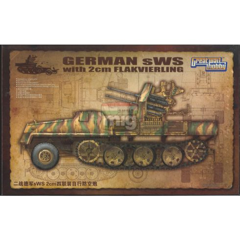 GWH03525 1/35 WWII German sWS with 2cm Flakvierling