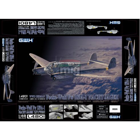 GWH04801 1/48 WWII German Fw 189A-1 Night Fighter
