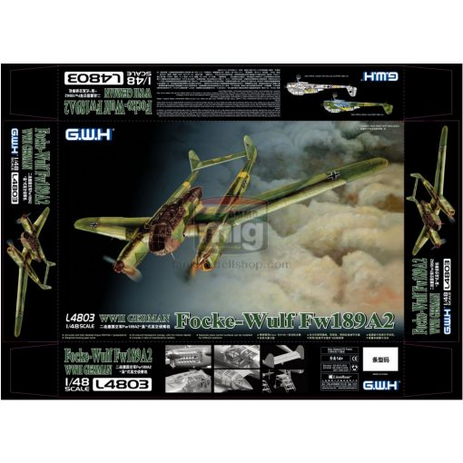 GWH04803 1/48 WWII German Fw-189 A2 makett