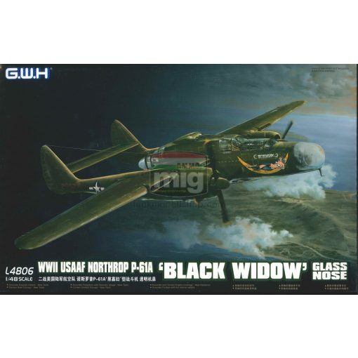 GWH04806 1/48 WWII USAAF Northrop P-61A 'Black Widow' Glass Nose makett