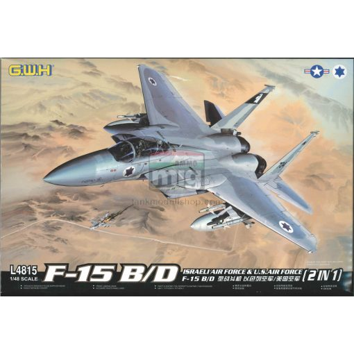 GWH04815 1/48 F-15B/D Israeli Air Force & U.S.Air Force 2 in 1