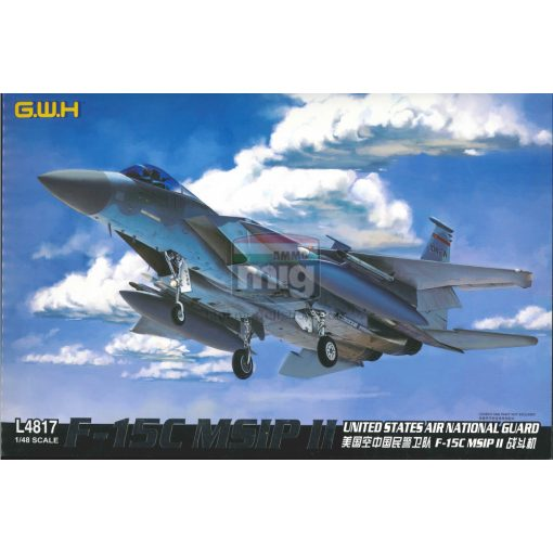 GWH04817 1/48 F-15C MSIP II United States Air National Guard makett