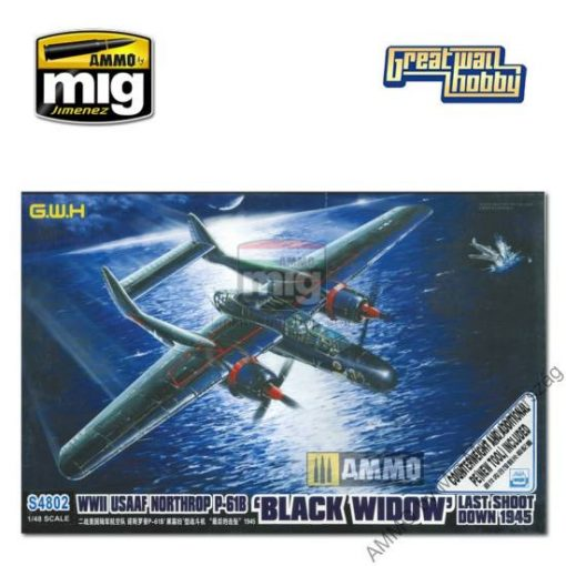 GWHSNG02 1/48 USAAF Northrop P-61B Last Shoot Down w/Metal Counterweight and new Additional PE makett
