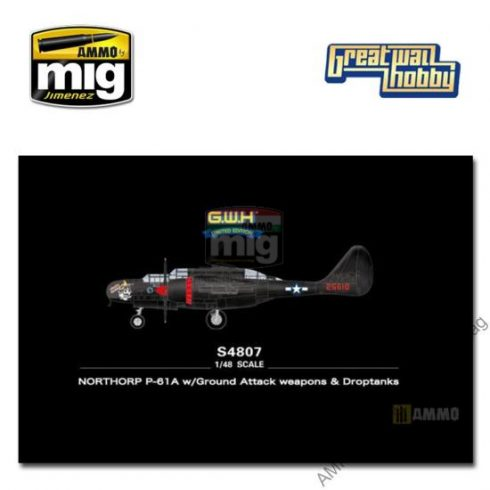 GWHSNG07 NORTHORP P-61A w/Ground Attack weapons & Droptanks