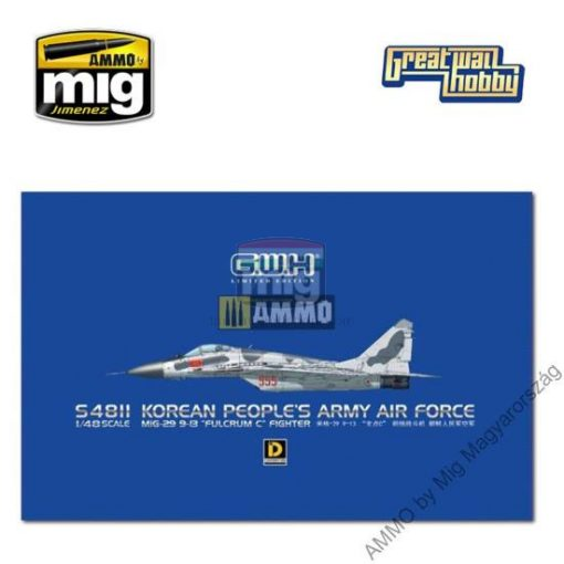 "GWHSNG11 1/48 MiG-29 9-13 ""Fulcrum C"" Korean People's Army Air Force makett"