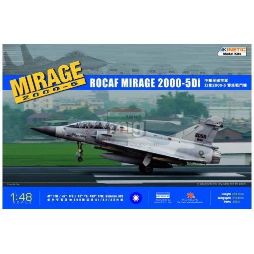 KINETIC 48037 1/48 MIRAGE 2000D-5i ROCAF makett