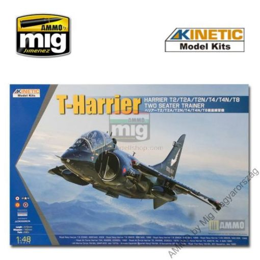 KINETIC 48040 1/48 T-HARRIER T2/T4/T8 makett