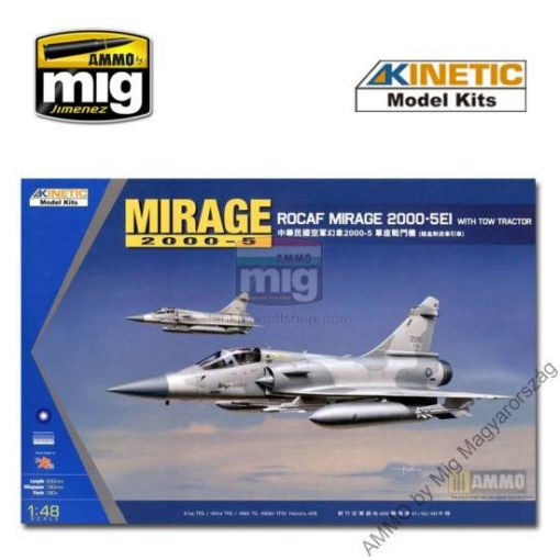 KINETIC 48045 1/48 MIRAGE 2000C ROCAF W/ TRACTOR makett