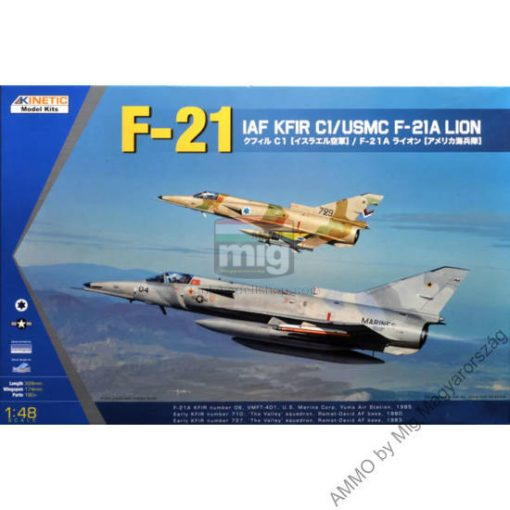 KINETIC 48053 IAF KFIR C1/USMC F-21A LION makett