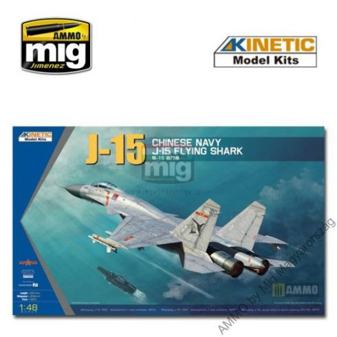 KINETIC 48065 1/48 J-15 CHINESE NAVAL FIGHTER