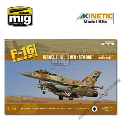 KINETIC 72001 1/72 F-16I makett