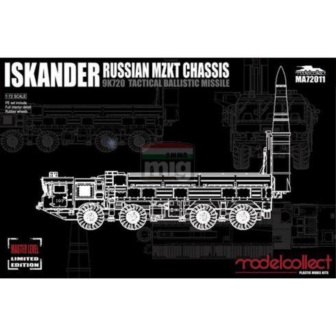 MA72011 Russian 9K720 Iskander-M Tactical ballistic missile MZKT chassis