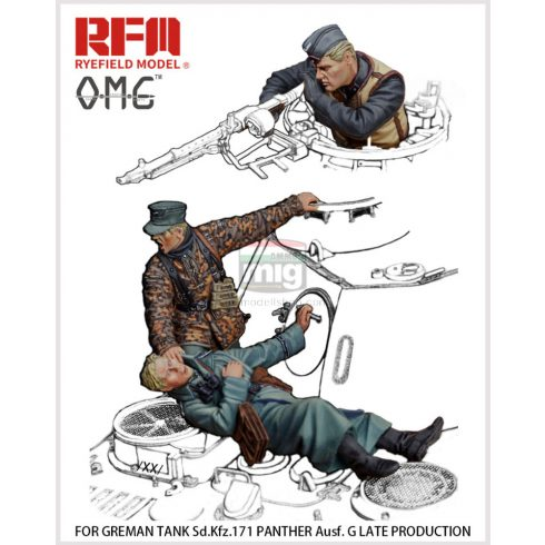 OM35001 1/35 Fallen figures. For German Tank Sd.Kfz. 171 Panther G late production