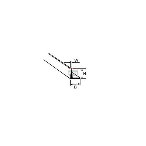 Plastruct 190503 AFS-3 L-profil, 2,2x2,2x380 mm (1db)