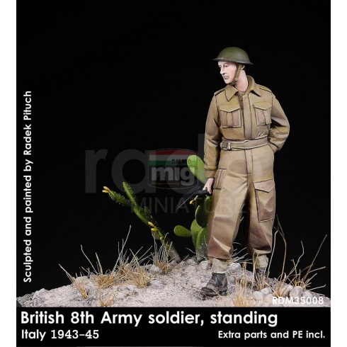 RDM35008 British 8th Army soldier standing, 1943-45