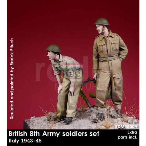 RDM35009 British 8th Army soldiers, 1943-45 figura makett