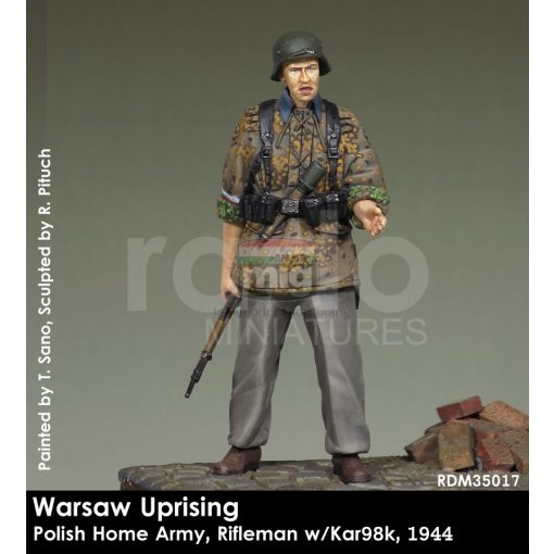 RDM35017 Home Army Rifleman w/kar 98, 1944 figura makett