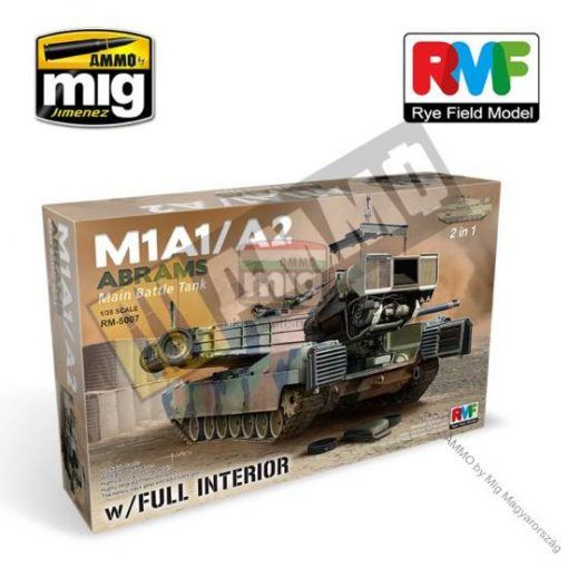 RFM5007 1/35 M1A1/ A2 Abrams w/Full Interior 2 in 1 makett