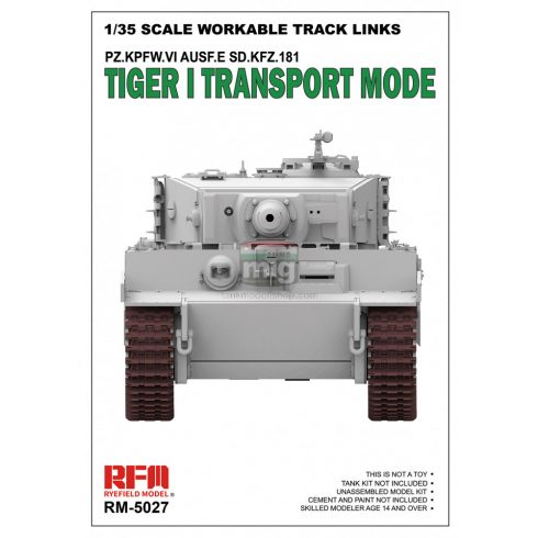 RFM5027 1/35 TIGER I TRANSPORT WORKABLE TRACK LINKS