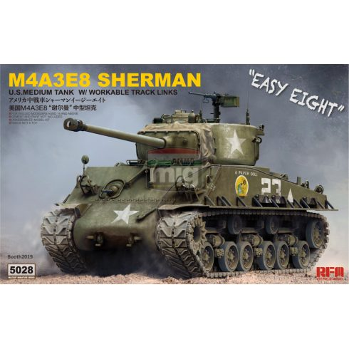 RFM5028 1/35 SHERMAN M4A3E8 W/ WORKABLE TRACK LINKS