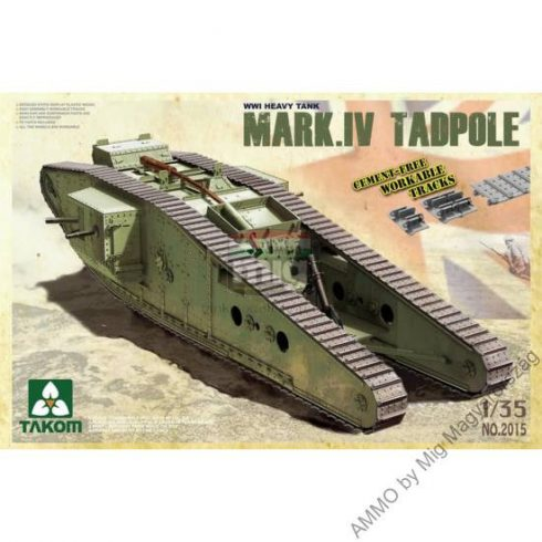 TAKO2015 WWI Heavy Battle Tank Mark IV Male Tadpole w/Rear mortar